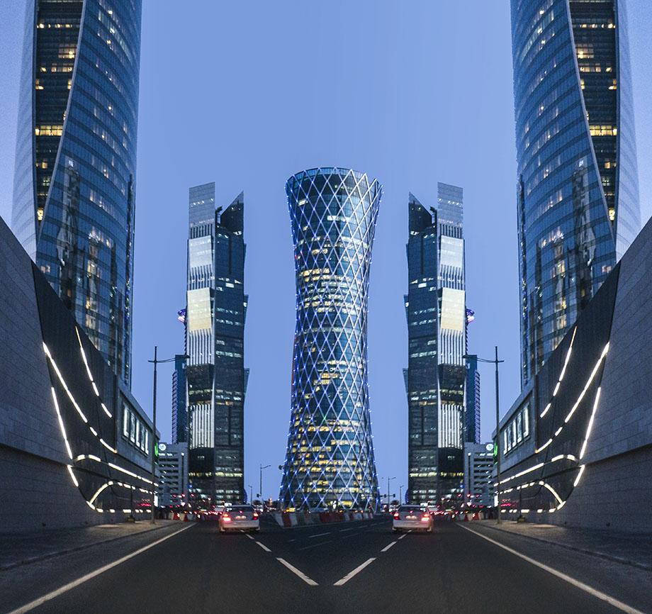 Mirrored City Doha photography